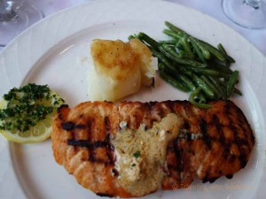 """Salmon Filet at Fandango restaurant in Pacific Grove, California"""