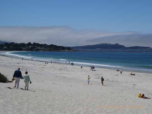 """White sand beach in Carmel-by-the-Sea, California"""