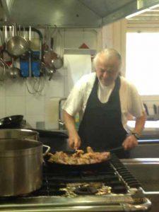 """""""Giovanni Cameli in the kitchen of Al Vecchio Convento in Portico di Romagna, Italy"""""""