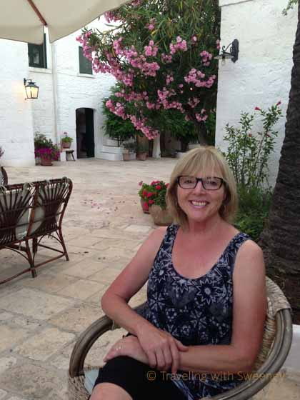 """In the courtyard of Masseria Il Frantoio, Ostuni, Puglia"""
