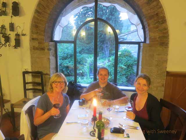 """In the dining room of Al Vecchio Convento"""