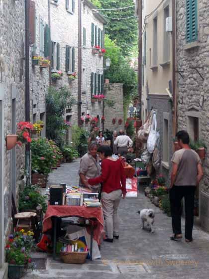 """""""Village street in Portico di Romagna"""""""