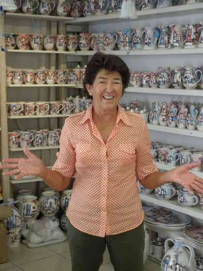 """Sandra Clare, co-owner of Hermes Gallery in Mykonos"""