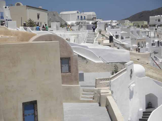 """Santorini - a view in the town of Oia"""