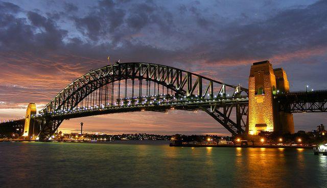 """Sydney Harbor Bridge, New South Sales Photo credit: Adam J. W. C."""