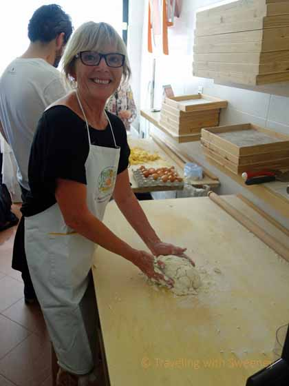 """Forming a ball of dough for pasta making"""