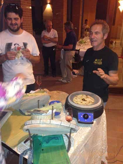 """""""Maurizio preparing piadinas at Collina dei Poeti"""""""