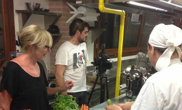 """In the kitchen with Antonella the chef at Collina dei Poeti"""