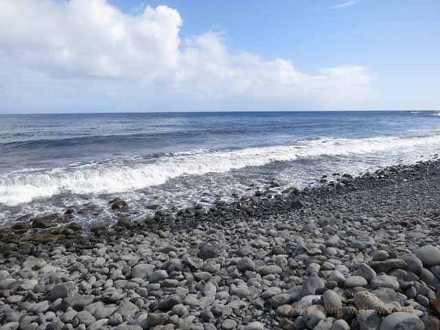 """A rocky beach on Maui's eastern coast """