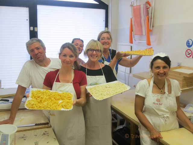 """Finished pasta presented by the proud pasta makers at Pasta Fresca Laura"""