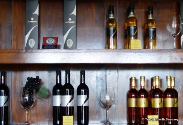 """""""Wines in the AltaVita tasting room"""""""