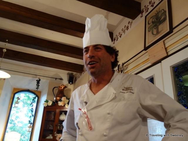 """""""Chef Franco Gamberini at Trattoria Montepaolo in Dovadola, Italy"""""""