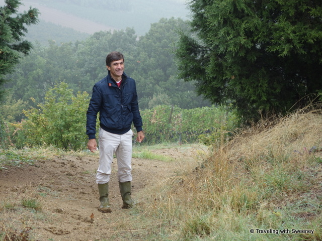"""Riccardo Castaldi -- maybe a little muddy for a walk down to the Trebbiano vineyards"""