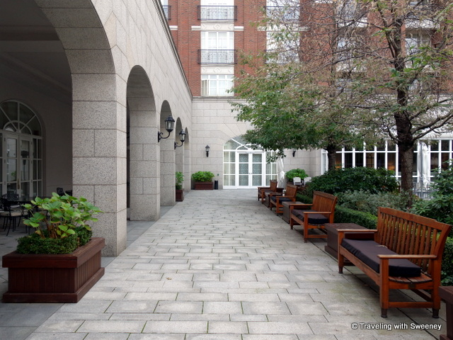 """""""Sitting area in the courtyard of the Four Seasons Dublin"""""""