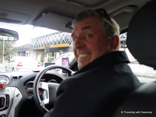 """On the way to the airport with taxi driver George in Dublin"""