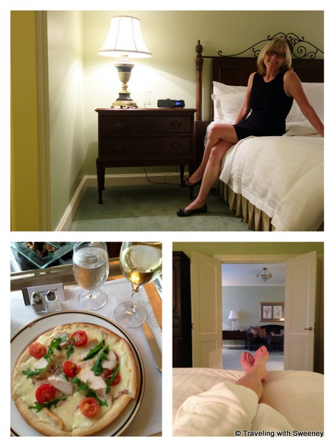 """""""Relaxing with room service at the Four Seasons Dublin"""""""