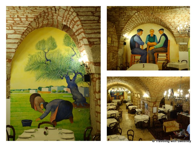 """Murals inside Casa Nova Restaurant in Alberobello, Italy"""