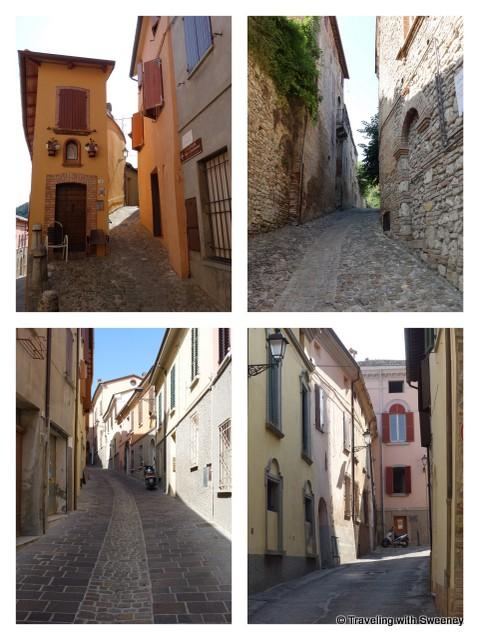 """Along the narrow streets of Bertinoro, Italy"""