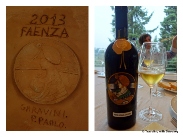 """""""Vino delle Anfore terre cotta vat and in the bottle with ceramic label"""""""