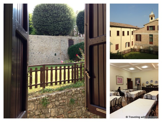"""Monastery accommodations at Bertinoro Castle, Italy"""