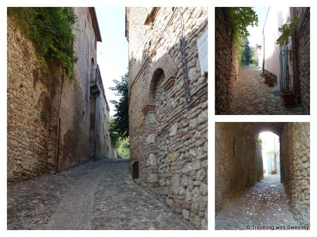 """""""Narrow lanes and passageways of Bertinoro, Italy"""""""