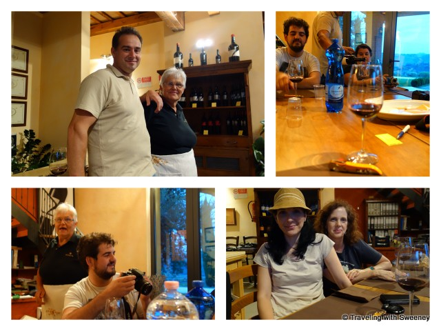 """In the tasting room of Altavita Vineyards in Cesena, Italy"""