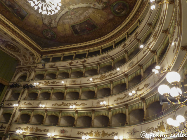 """Interior of Teatro Alessandro Bonci in Cesena, Italy"""