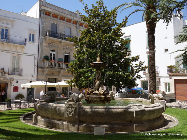 """Fountain of the Dolphins on Piazza Roma, Martina Franca, Italy"""