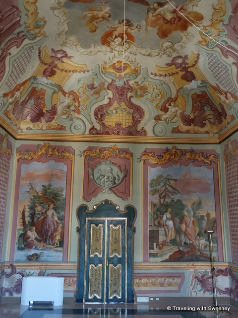 """Opulent tempera paintings in the Ducal Palace in Martina Franca, Italy"""