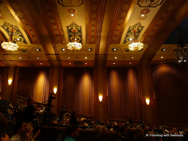 """Inside the Uptown Theater in Napa for the wrap party and awards ceremony of the Napa Valley Film Festival"""
