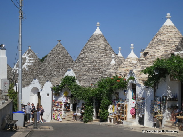 """Souvenir shops in the trulli of Rione Monti area of Alberobello, Italy"""