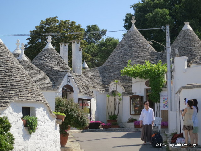"""Shops in the trulli of Alberobello, Puglia, Italy"""