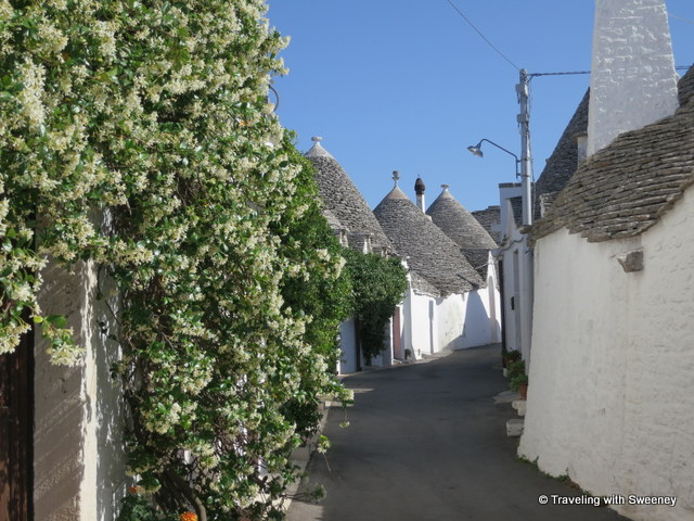 """Quiet side street off the busy tourist path in Alberobello"""