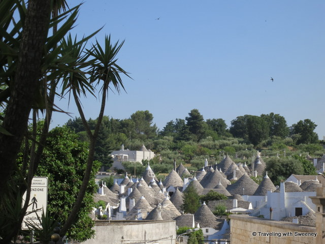 """Cluster of trulli in Alberobello, Italy"""