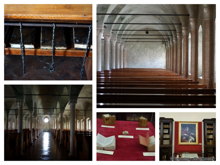 """""""The main reading room and Piana Library of the Biblioteca Malatestiana in Cesena, Italy"""""""