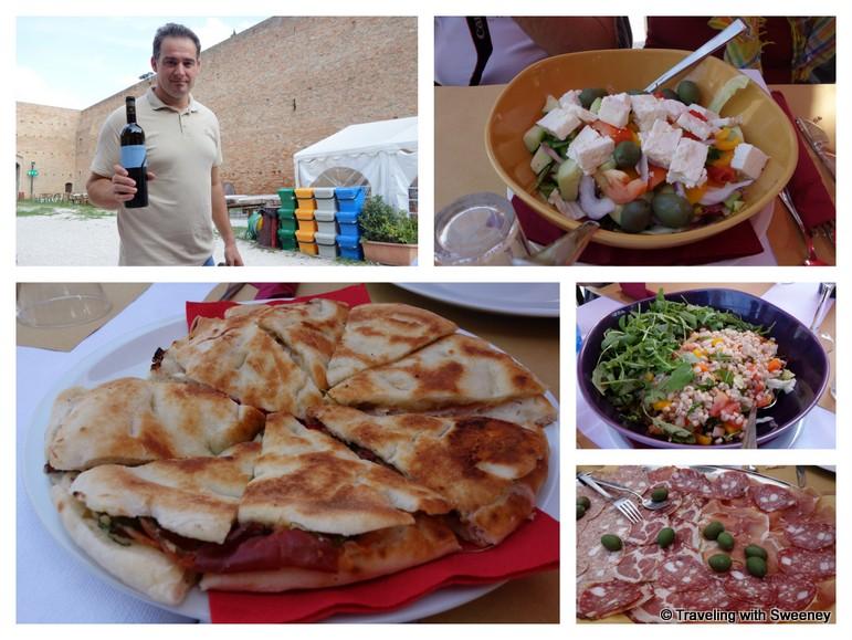 """Lunch at La Rocca Malatestiana"""