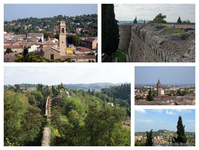 """Views from La Rocca Malatestiana in Cesena, Italy"""