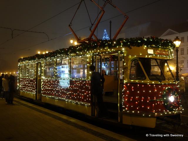 """""""Festive Christmas tram in Bratislava"""""""