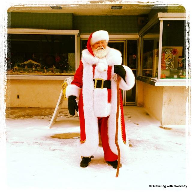 """Santa Claus on Main Street in Marinette, Wisconsin"""