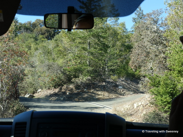 """Driving on the Mayacamas Estate in the hills of Napa, California"""