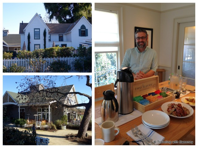 """Napa tours - starting at Logan-Ives House, Tim Mosblech, Farmstead Restaurant at Long Meadow Ranch in St. Helena, Napa Valley"""