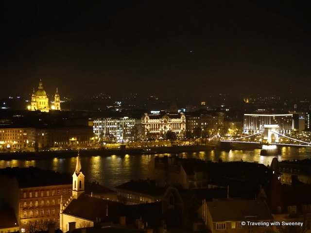 """Budapest at night from Fisherman's Bastion in the Castle District"""