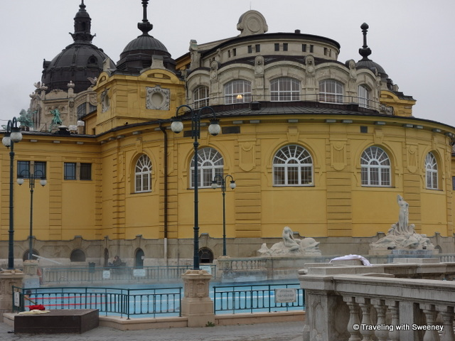 """Széchenyi Baths - indoor pools and saunas are in this building"""