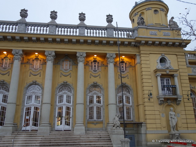 """Széchenyi Baths rear entrance"""
