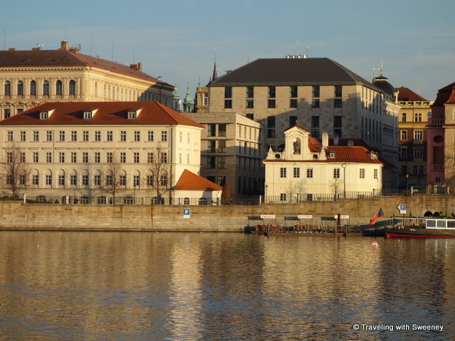 """Four Seasons Prague buildings along the Vltava"""