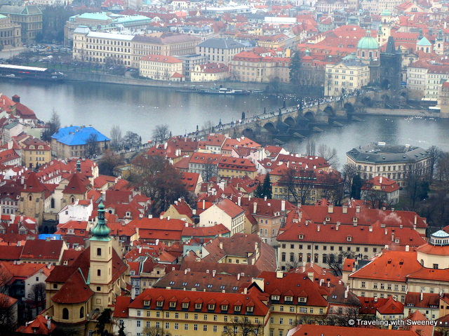 """Four Seasons Prague from across the Vltava (to the left of the Charles Bridge)"""