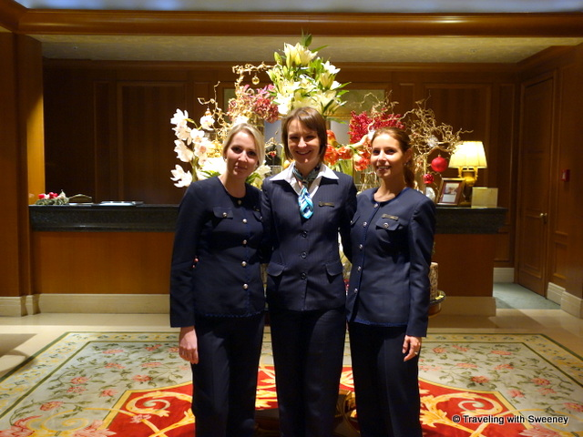 """Friendly reception staff at Four Seasons Prague"""