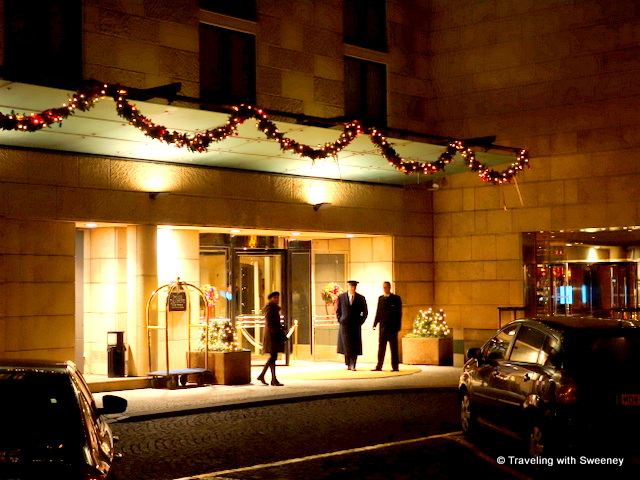 """Four Seasons Prague entrance on Veleslavinova Street"""