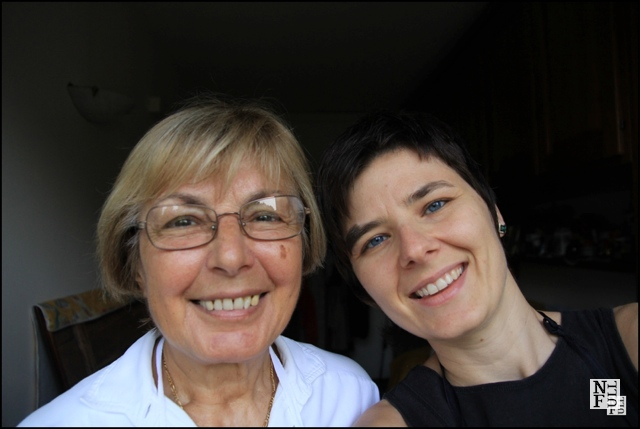 """Agata Mleczko and her Italian cooking teacher"""