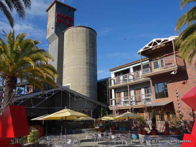 """Riverbend Performance Plaza, Historic Napa Mill, Napa, California"""